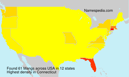 Surname Mangs in USA