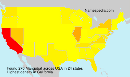 Surname Mangubat in USA