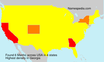 Surname Manho in USA
