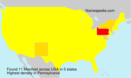 Surname Manifest in USA