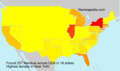 Surname Manikas in USA