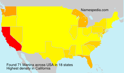 Surname Manina in USA