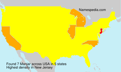 Surname Manjar in USA