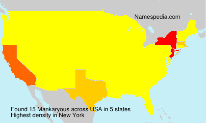 Surname Mankaryous in USA