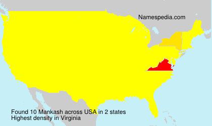 Surname Mankash in USA
