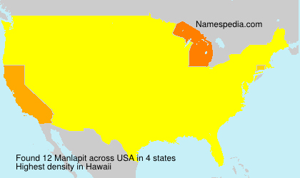 Surname Manlapit in USA