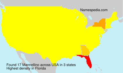 Surname Mannellino in USA
