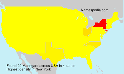 Surname Manngard in USA