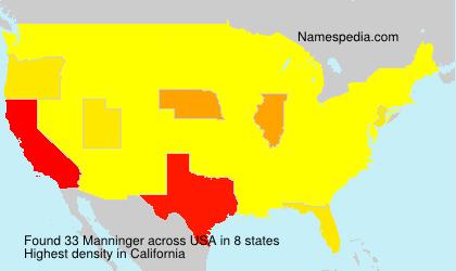 Familiennamen Manninger - USA