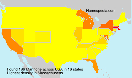 Surname Mannone in USA