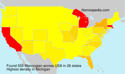 Surname Manoogian in USA