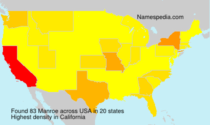 Surname Manroe in USA