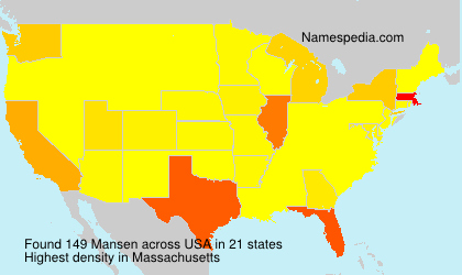 Surname Mansen in USA