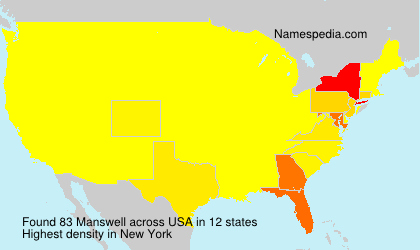 Surname Manswell in USA