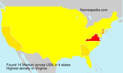 Surname Mantari in USA