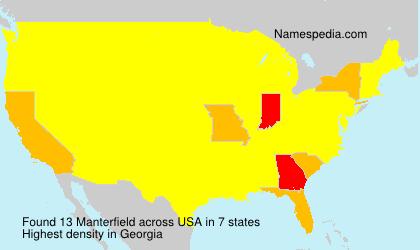 Familiennamen Manterfield - USA