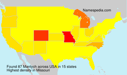 Surname Mantych in USA