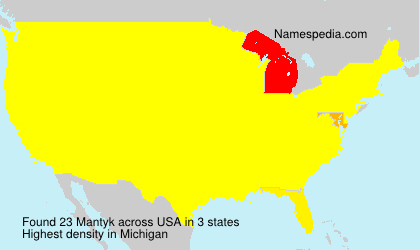 Surname Mantyk in USA