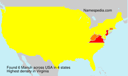 Surname Manuh in USA