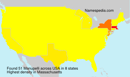 Surname Manupelli in USA