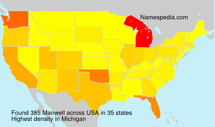 Surname Manwell in USA