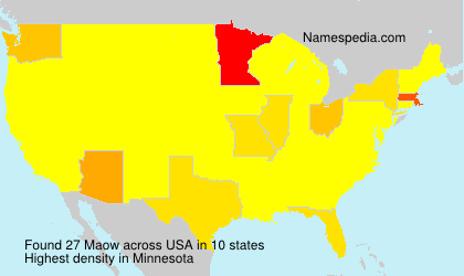 Surname Maow in USA