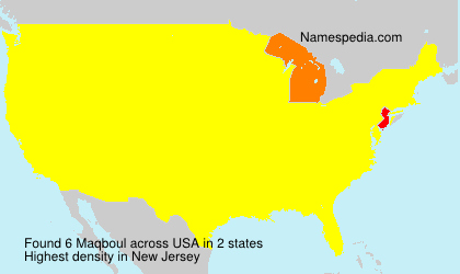 Surname Maqboul in USA