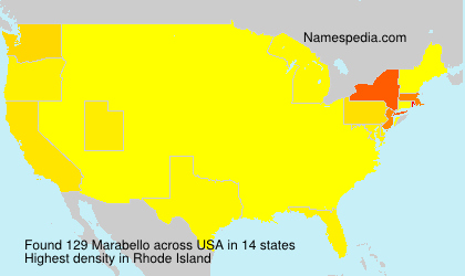 Surname Marabello in USA