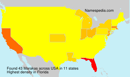 Surname Marakas in USA