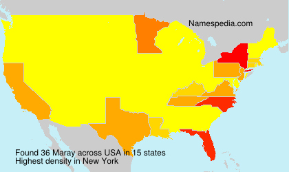 Surname Maray in USA