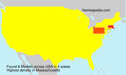 Surname Marbelt in USA