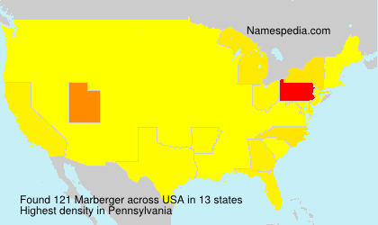 Familiennamen Marberger - USA
