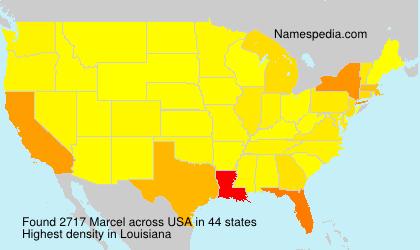 Familiennamen Marcel - USA