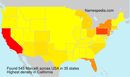 Surname Marcelli in USA