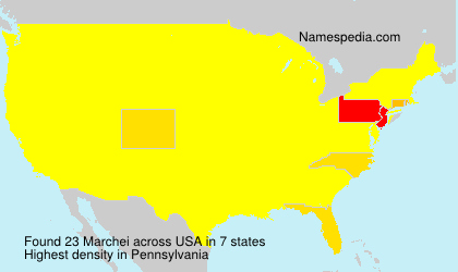Surname Marchei in USA