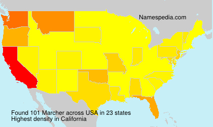 Surname Marcher in USA