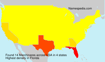 Surname Marchinares in USA