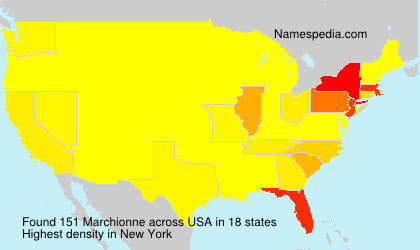 Surname Marchionne in USA