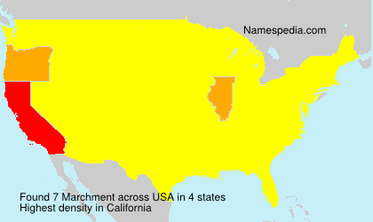 Surname Marchment in USA