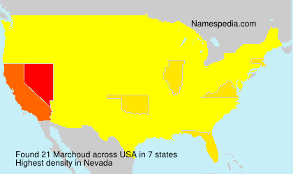 Surname Marchoud in USA