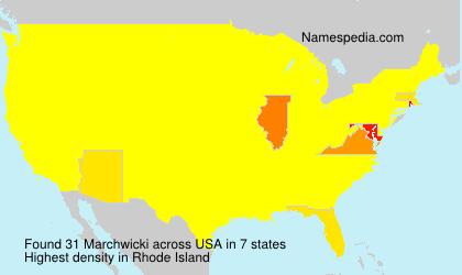 Surname Marchwicki in USA