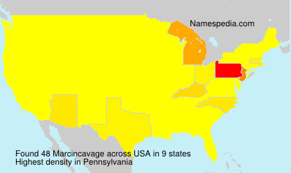 Surname Marcincavage in USA