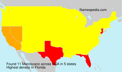Surname Marciscano in USA