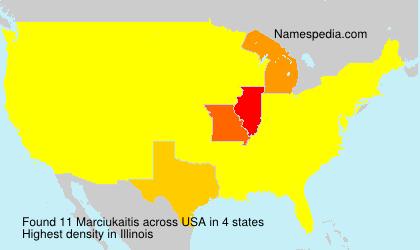 Surname Marciukaitis in USA