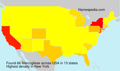 Surname Marcogliese in USA