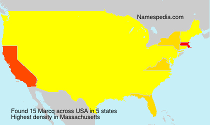 Surname Marcq in USA