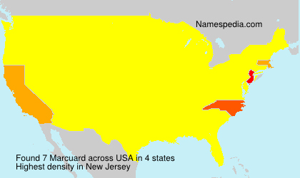 Surname Marcuard in USA