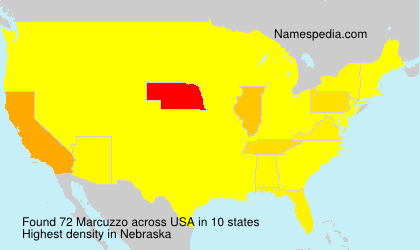 Surname Marcuzzo in USA
