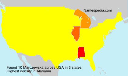 Surname Marczewska in USA