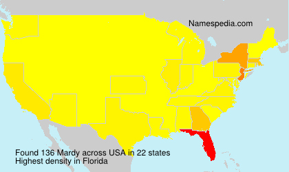 Surname Mardy in USA